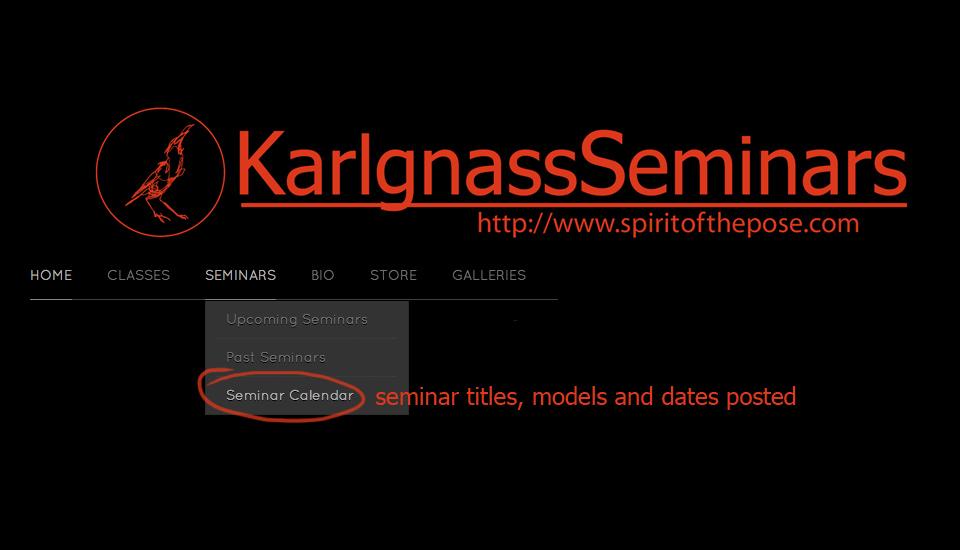 Seminar calendar listing updated through 2013